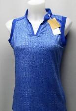 New Ladies Small Nancy LOPEZ DIVA sleeveless golf polo shirt snakeprint