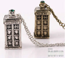 Collana Doctor Who Tardis Catenina Police Box Oro Silver Vintage Ciondolo iPhone