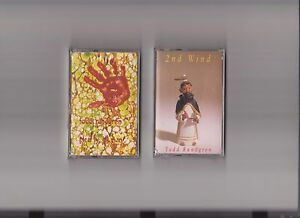 Todd Rundgren Lot of 2 Factory Sealed Cassette Tapes NEARLY HUMAN + 2nd WIND