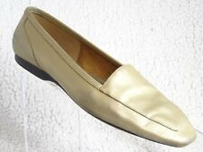 Capezio Women's 8M  Gold Jenny BONE Slip-On LOAFERS Leather FLATS Shoes