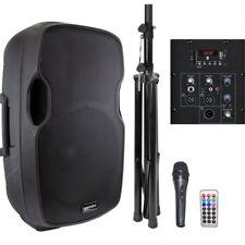 GEMINI AS 15 BLU PACK kit cassa+stativo+microfono+telecomando x karaoke ecc...