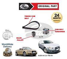 FOR AUDI A4 2.0 TDI 8V + QUATTRO 2004-> NEW GATES TIMING CAM BELT TENSIONER KIT