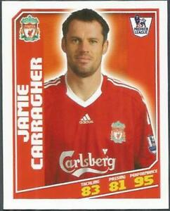 TOPPS TOTAL FOOTBALL-2009- #178-LIVERPOOL-JAMIE CARRAGHER