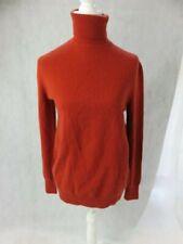 Equipment Femme 100% Cashmere Rust Color Turtleneck Sweater Size S
