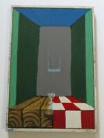 VINTAGE  STILL LIFE SURREAL PAINTING MYSTERY EXPRESSIONIST MODERNISM  CUBISM