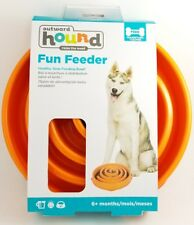 Outward Hound Dog SLO BOWL Slow Fun Feeder Holds 4 Cups LARGE CORAL ORANGE 11""