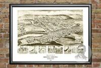 Old Map of Orbisonia, PA from 1906 - Vintage Pennsylvania Art, Historic Decor