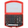 49pc Colour Coded Bit Set Mini Ratchet Spanner Torx Hex Pozi Phillips Slotted