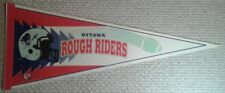 Vintage Ottawa Rough Riders CFL Full Size Pennant 1994-1996 logo redblacks