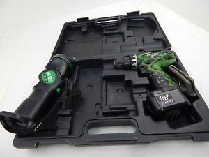 "Hitachi DS 12DVF3 12V 3/8"" Cordless Drill & Flashlight UB12D w/ case & 1 Battery"
