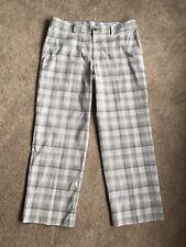 Izod Perform X Mens Golf Pants Gray Plaid with Purple & White 36/30