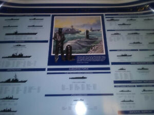 1998 Ships and Submarines of The United States Navy Poster USA Raytheon Rare HTF