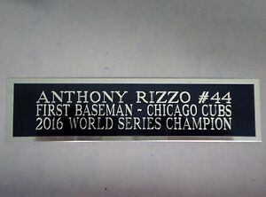 Anthony Rizzo Cubs Autograph Nameplate For A Baseball Bat Display Case 1.25 x 6