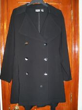 CHICOS BLACK BELTED BUTTONED TRENCH COAT-3 XL-EUC