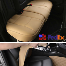 3x Beige PU Leather Car SUV Cover Seat Cushion 5-Seat Protector Universal USA