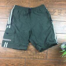 VTG Abercrombie Mens MEDIUM Lined Green Athletic Shorts