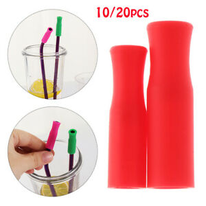stainless steel Tip Straw sleeve silicone cover drinking straw straws cap