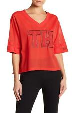 1432290bec4a8 Tommy Hilfiger (MY8545-49-17) Sport Cropped Mesh Varsity Tee Red Sz