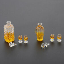 1/12 Scale Dollhouse Miniature Mini Whiskey Wine Bottle & Cup Bar Drink Toys