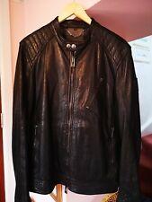 Belstaff Black Leather K Racer Jacket 54