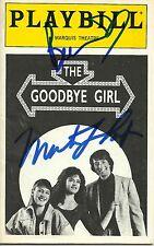 The Goodbye Girl signed Playbill bernadette peters martin short