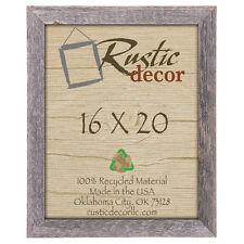 "16x20  - 1.5"" Wide Standard Reclaimed Rustic Barn Wood Wall Frame"