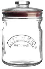 Kilner PUSH TOP Storage Cookie Biscotto Pasta Cereali ERMETICA Glass Jar 1 LT