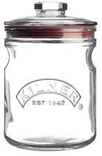 Kilner Push Top Storage Cookie Biscuit Pasta Cereals Airtight Glass Jar 1 lt