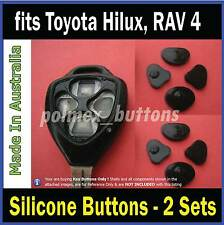 fits TOYOTA Hilux, RAV4, Yaris remote key - Repair Silicone key Buttons- 2 sets