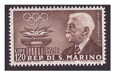SAN MARINO 1959 - P A  PREOLIMPICA   DE COUBERTIN  120 LIRE    NUOVO **
