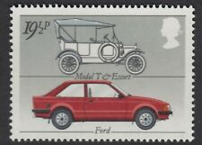 FORD ESCORT  ILLUSTRATED  ON  1982  GB  UNMOUNTED MINT STAMP