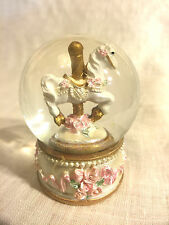 Golden Glow - Carousel Snow Globe (C)