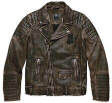 Harley-Davidson Mens Willie G #1 Skull Distressed Leather Motorcycle Jacket sz M
