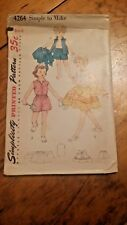 VINTAGE SIMPLICITY KIDS SKIRT SHORTS TOP PATTERN 4264 SIZE 6 FREE SHIPPING