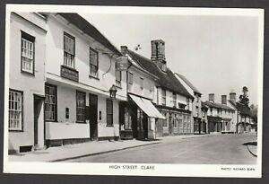 Postcard Clare near Haverhill Suffolk the Half Moon Hotel pub in High Street RP