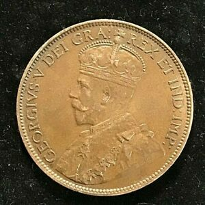 Canada One Cent 1913 Coin a/UNC