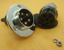 GX25 XLR Flange DF25 9 Pin Aviation plug 25mm Ham Radio waterproof Communication