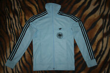 ADIDAS vtg track jacket GERMANY   black stripes Deutchland size S  great con.