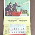 Vtg 1970 Firefighter Calendar NFPA St Charles MO 18x27 Always Ready Griffith PS