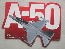 AUTOCOLLANT STICKER AUFKLEBER KOREAN AEROSPACE KAI LOCKHEED MARTIN A-50