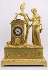 Originale Empire Pendule Kaminuhr Daphne vergoldete Bronze Paris um 1810