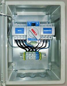 Automatischer Notstromumschalter Netzumschalter für Stromaggregat 63A 4-Polig