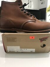 Red Wing Shoes 6'' Beckman Lace Up Boots UK10/EU 44.5 Cigar Featherstone NEW!