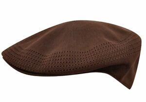 Kangol Men's Ventair 504 P2i Flat Cap Brown Hat