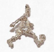 New listing Vintage Boy Kicking Ball Sterling Silver Bracelet Charm / 3d Detail (3.7g)
