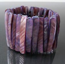 Bracelet Pearl Purple Jewelry Nacre Wristband Stretchy Wrist Jewellery A1567