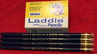 4 Each, Collectible Dixon Laddie 3304 Pencils, Large Black Lead ,Vintage Rare