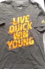 """Boys' Adidas Go-To Tee """"Live Quick Win Young"""" Size 14-16 Large"""