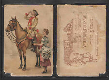 1880s A JEANNE d'ARC VETEMENTS TROUSSEAUX FRENCH VICTORIAN TRADE CARD