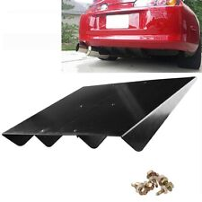 "22"" X 21"" ABS Universal Rear Bumper 4 Fins Diffuser Fin Black Car Accessory Part"